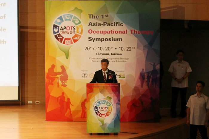 Vice President Dr. Jian-Ren Chen attending the opening ceremony of APOTS
